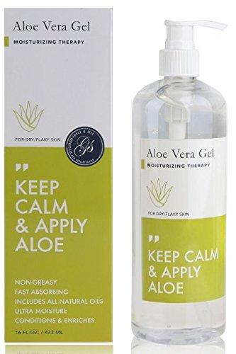 Jason Aloe Vera Gel (Aloe Vera Gel 473ml Pumpflasche - After Sun Pflege für Haar und Körper | 100% vegan und frei von Parabenen)