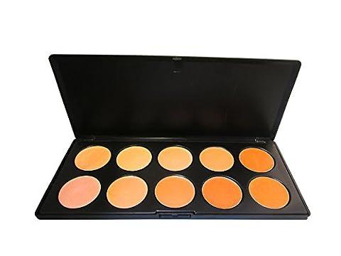 atrillion® 10couleurs Concealer de masquage Crème Foundation Contour Palette de maquillage