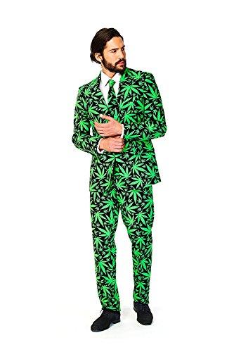 g Cannaboss Cannabis Designer Alle Größen - Grün, EU 52 (Herren Opposuits Grünen Anzug)