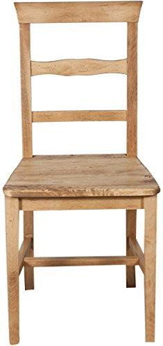 Coppia due Sedie Country con struttura in faggio e seduta in legno ...