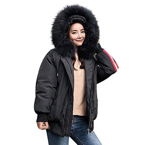 CICIYONER Langärmelige Kapuzenjacke aus Baumwolle mit Kapuze für Damen S-XL