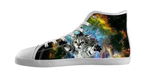 Dalliy Galaxie Katze Galaxy Cat Men's Canvas shoes Schuhe Lace-up High-top Footwear Sneakers Segeltuchschuhe A