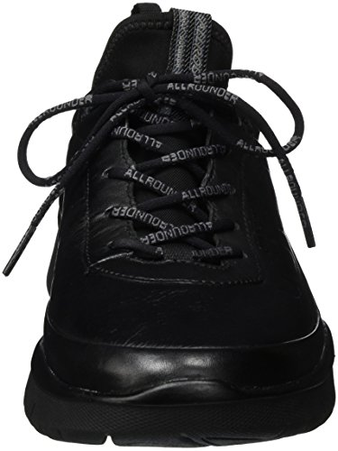 Mephisto Maniko C.Leather 1 Black, Baskets Basses Homme Noir (Black)