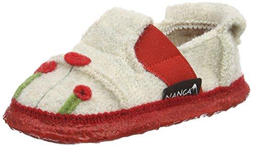 Nanga Mädchen Magic Poppy Flache Hausschuhe, (weiß / 10), 25 EU