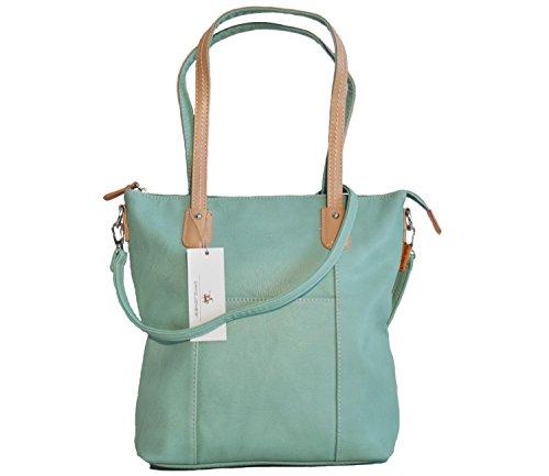 shopper ecopelle Jones David donna medio modello Verde in Borsa qB61x1