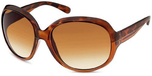Damen Sonnenbrille Art. 9082-2 braun leopard / braun, große Gläser XL
