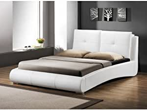 Lit BERTIN - 160x200cm - Simili blanc