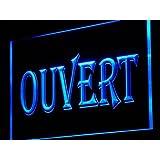 Enseigne Lumineuse j162-b OUVERT OPEN Shop Neon