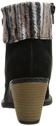 Rieker Z1563 01, Bottes femme Noir (Schwarz/Grau Beige)