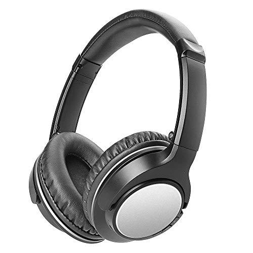 Bluetooth Kopfhörer, GIARIDE Bluetooth Over-Ear Faltbare Kopfhörer mit Mikrofon Hallo-Fi Deep Bass Stereo, Noise Cancelling, 30 Stunden Spielzeit, Faltbare Deign für PC, Handys, TV - Flugzeug-head-unterstützung