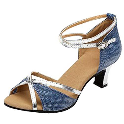 Waltz Prom Ballroom Latin Salsa Tanzschuhe Square Damen Dance Gesellschaftstanz Pumps Latein Schuhe ()