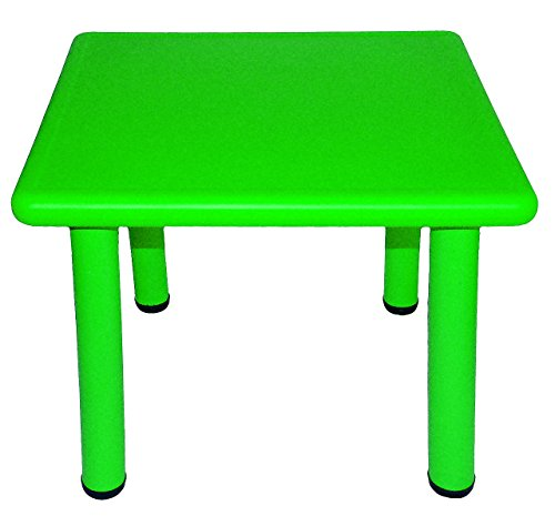 Kindertisch - GRÜN - für INNEN & AUßEN - Kindermöbel für Mädchen & Jungen - Tisch Tische / Kinderzimmer / Plastiktisch - Kinder - Gartenmöbel - Plastik / Kunststoff & Metall