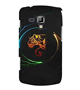 Cartoon, Black, Cartoon and Animation, Printed Designer Back Case Cover for Samsung Galaxy S Duos S7562