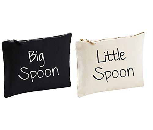 Couples sac lavage set grand cuillère LITTLE SPOON cadeau Spooning VOYAGE Trousse de Toilette Mariage Anniversaire Noël ST.VALENTIN présent