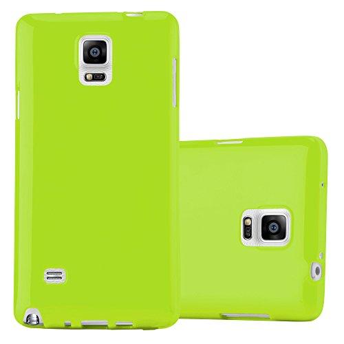 Preisvergleich Produktbild Cadorabo Hülle für Samsung Galaxy Note 4 - Hülle in Jelly GRÜN – Handyhülle aus TPU Silikon im Jelly Design - Silikonhülle Schutzhülle Ultra Slim Soft Back Cover Case Bumper