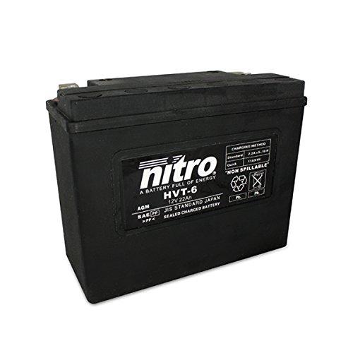 NITRO, HVT 06-N- Batteria Moto Harley Davidson AGM fatto