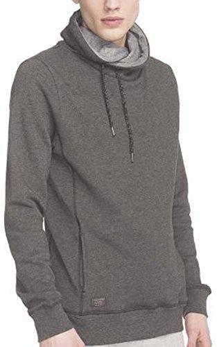 Ragwear Hooker Black Melange Organic Vegan Streetwear Hoody Sweater Herren Mens Black Melange