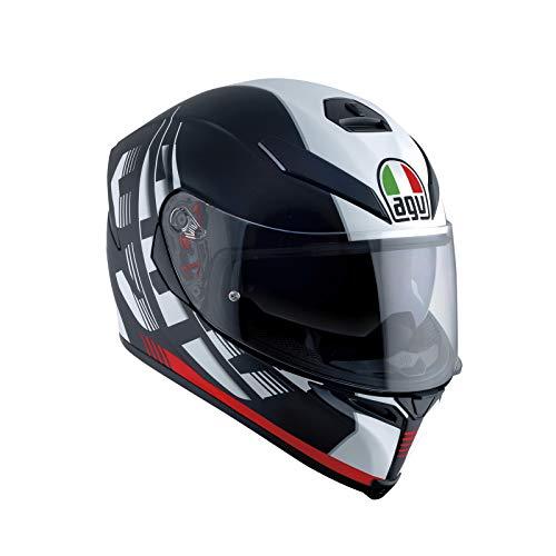 AGV Casco Moto Integrale K-5 S E2205 Multi Plk, Darkstorm Nero Matt/Rosso, Taglia ML