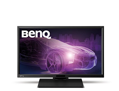 BenQ BL2420PT 24 inch QHD Designer Monitor (1440p, 100% sRGB, Rec 709, Height Adjustment, CAD/CAM and Animation Mode, VGA/DVI-DL/DP1.2/HDMI) - Black