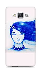 Amez designer printed 3d premium high quality back case cover for Samsung Galaxy A5 (Blue girl shuriken)