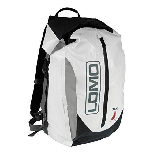 Lomo, wasserdichter Rucksack mit 30 Liter Fassungsvermögen, Dry-Bag-Packsack, Weiß