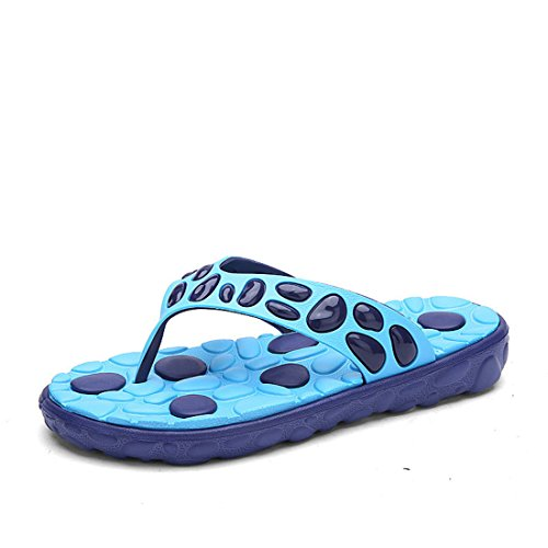 Men's European Style Beach Platform Slippers blue