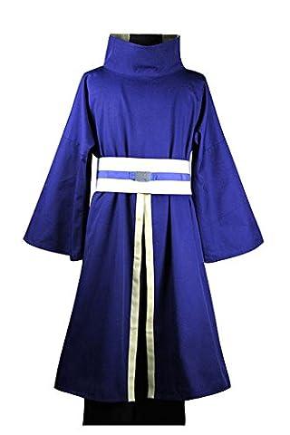 Naruto Akatsuki Ninja Tobi Obito Madara Uchiha Cosplay Kostüm (Ohne Mask) Herren L (Madara Uchiha Kostüm)