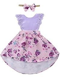 9bf68680832 PAOLIAN Conjuntos para bebé niñas Trajes a Juego de Hermanas Verano 2018  Vestidos o (Vestidos +…