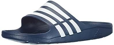 Adidas Duramo Slide, Unisex Adults Beach & Pool Shoes, Blue (New Navy/White/New Navy), 4 UK (36 1/2 EU)