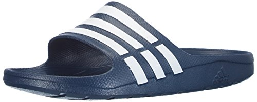 adidas Originals Duramo Slide Unisex-Erwachsene Dusch & Badeschuhe Blau (NEW NAVY / WHITE / NEW NAVY)