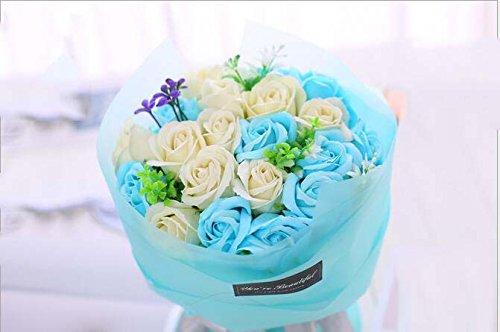 Fête des Mères Saint Valentin Journée des Enseignants SOAP Main Bouquet Bouquet Cadeau Boîte Creative Fait Main Bouquet Box ( Color : Rose )