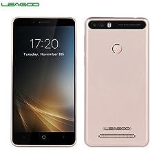 LEAGOO KIICAA POWER - 3G smartphone 5.0''HD (Doble Cámara, 4000 mAh, Android 7.0, RAM 2gb Rom 16gb, MediaTek MTK6580 4 núcleos, lector de huellas), oro