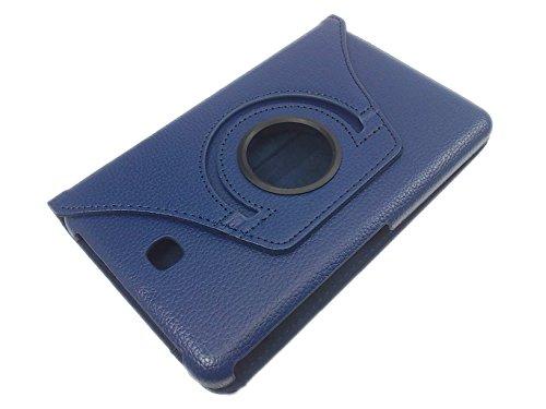 handy-point 360 Grad drehbar mit AUFSTELLFUNKTION Hülle in Buchform Bookcase Schutzhülle Tasche für Tablet Tablethülle Schutz Etui für Samsung Galaxy Tab 4, 7 Zoll, 7.0, Dunkelblau