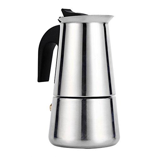 Cafetière Italienne Espresso Avec Filtre En Acier Inoxydable Moka Café Pot Argent 100/200/300/450ml Pour Bureau Cuisine ( Taille : 100ml )