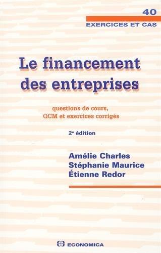 Financement des Entreprises - Cas, 2e ed...