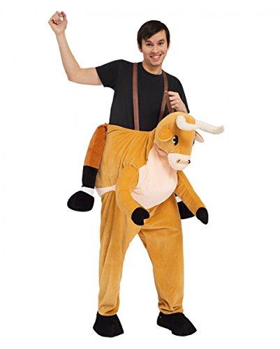 Horror-Shop Reiter auf Stier mit Nasenring Carry Me Kostüm für Fasching & Karneval One Size