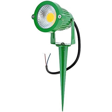 Lixada RGB Lampade senso, Paletti solari in alluminio - A tecnologia LED - per giardino/ sentiero/ stagno/ prato/ paesaggio - con pannello solare, Ad Alta Potenza, 6W, 12V AC DC, IP65 , CE RoHs, 1 pezzi