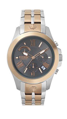 Versus by Versace Herren Analog Quarz Uhr mit Edelstahl Armband VSPBH1518