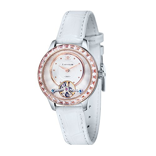 Thomas Earnshaw Womens The Lady Australis Watch - White/Rose Gold