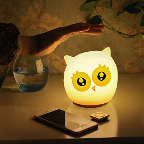 Nachtlicht Kind,LED Nachtlicht Baby Squeezable Erwachsene Nachttischlamp Nachtlicht Batterie mit Touch Schalter für lesen, Kinderzimmer, Schlafzimmer, Camping(16 Farbe)