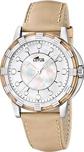 Lotus 15747/5 - Reloj analógico de Cuarzo para Mujer con Correa de Piel, Color Beige