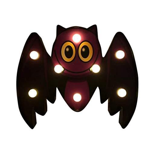Kostüm Maskerade Moderne - Ears Halloween LED dekoratives Nachtlicht Fledermaus Spinne Schädel Kürbis Form Halloween Lichterkette Kürbis Laterne Licht Lichterkette Draußen Lichteffekte Windlicht LED Lampe