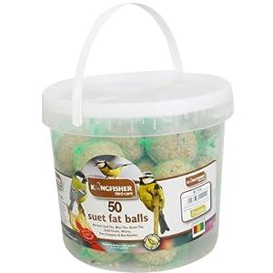 Kingfisher 50 Pack Tub Suet Fat Balls Garden Wild Birds Feeder Refil  from OV
