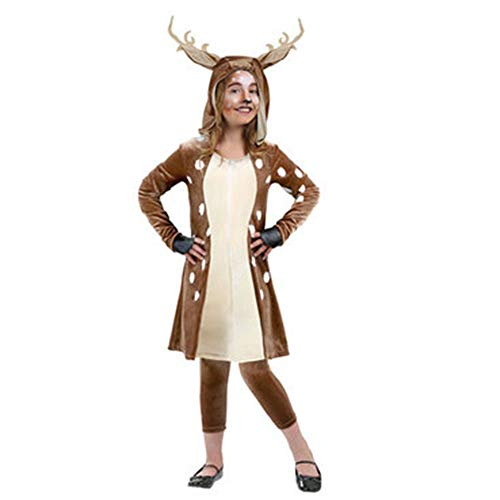 70's 60's Dress Kostüm Up - CLOUD Weihnachtskostüm Halloween Stage Performance Dress Up Kostüm/Sika Rotwild-Ren-Kostüm Children S