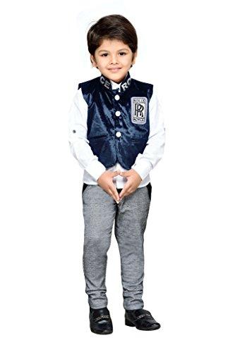 AJ Dezines kids party wear waistcoat suit set for boys (782_BLUE_1)