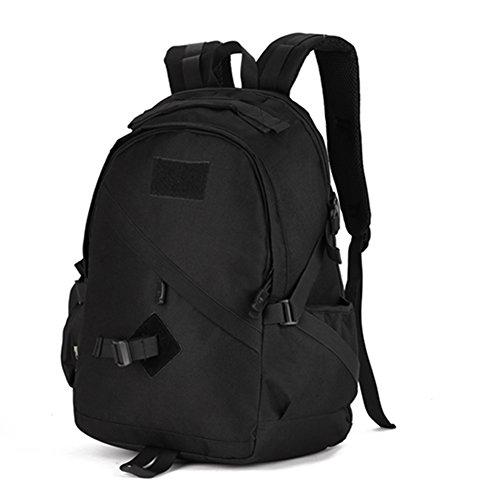 YAAGLE Klassisch einfach Gepäck outdoor militärisch Bergsteigen Taschen Freizeit multifunktional Rucksack Studenten Schultasche Schwarz