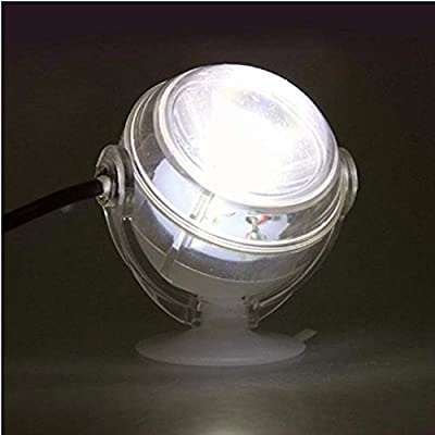 Cuiycw Lampe Led Sous-Marine Étanche Pour Aquarium Led Pour Corail Récifal Aquarium Submersible Lampe De Spot De Lumière D'Aquarium, Blanc