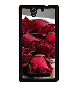 ifasho Designer Back Case Cover for Sony Xperia C3 Dual :: Sony Xperia C3 Dual D2502 (Nelumbo Nucifera Rose Agarbatti Rose Quartz Bracelet Azalea)