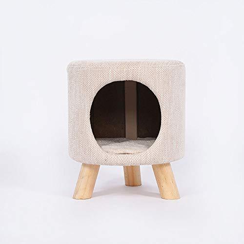 Dwhui Semi-Open Baum Loch Secret Keeper Gepolstert Runde Hocker Holz Bein Lagerung Organisieren Kinder Spielzeug Hocker Sitz,Beige (Lila Lagerung Würfel)