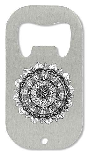 OpenWorld Peace Mandala White Handmade Drawing Sacred Circle Healing Power Flaschenöffner -